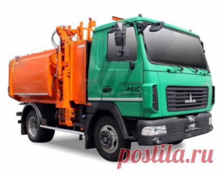 """KrASZ-M4CAM1: новый мусоровоз с боковой загрузкой на шасси """"МАЗ Корнет"""""""