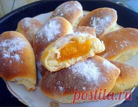 Сладкие пирожки в духовке на кефире. Фото рецепт — Мой сад