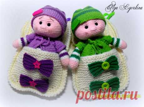 PDF Пупс крючком. FREE crochet pattern; Аmigurumi doll patterns. Амигуруми схемы и описания на русском. Вязаные игрушки и поделки своими руками #amimore - пупс, пупсик, кукла, куколка.