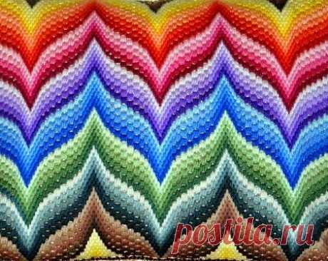 Великолепная вышивка Барджелло или флорентийская. Мастер-класс, идеи и схемы… Барджелло— старинная флорентийская вышивка, наосновании  которой создаются потрясающие пламенные узоры наполотне. Такая  итальянская вышивка bargello применяется для создания объемных красочных  уз…