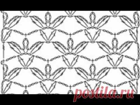 """Красивый УЗОР """"Терракот"""" Вязание КРЮЧКОМ , crochet beautiful pattern ( узор № 317)"""