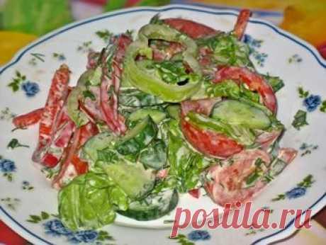 La ensalada hortalizas frescas