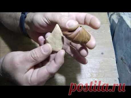 Миниатюрная резьба по сучкам. Ракушки с годовыми кольцами