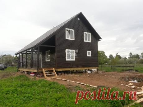 Каркасный дом 9х9 м по индивидуальному проекту | Новгородский строитель | Яндекс Дзен