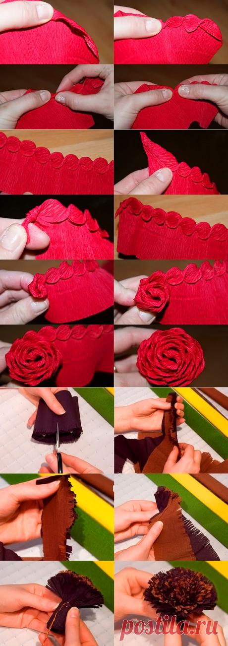 Цветы из гофрированной бумаги своими руками: пошаговое руководство