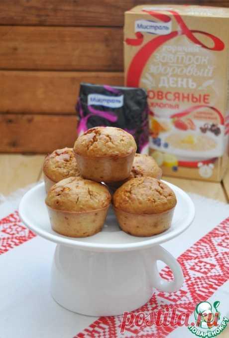 Постные овсяные кексы с грецким орехом - кулинарный рецепт