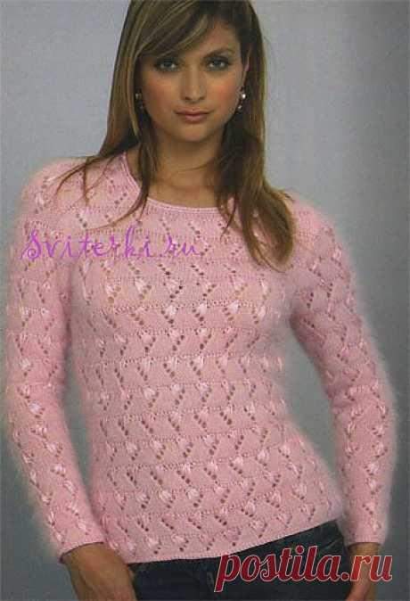 Схема вязания модного полувера