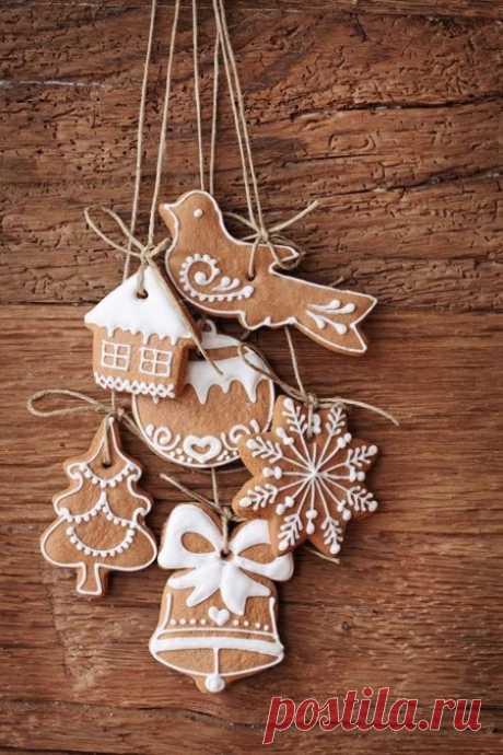 Рождественское печенье+трафареты для пряников