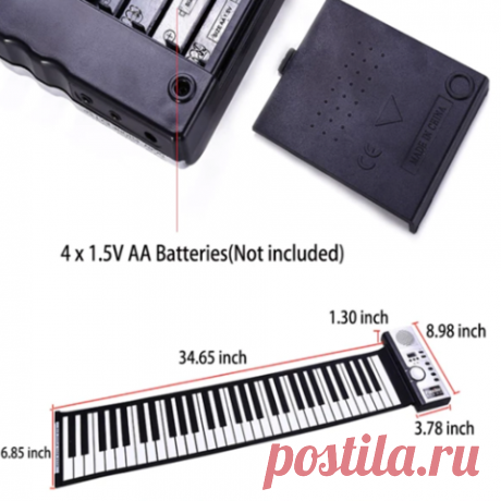 US$ 119.99 - 61 Key Roll-Up Portable Piano Keyboard - www.cccinlife.com