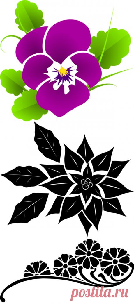 Цветы: шаблоны и трафареты для вырезания   33 Поделки   Яндекс Дзен