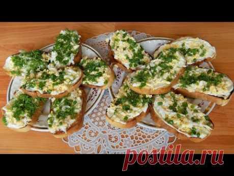 Быстрые бутерброды с отварными яйцами