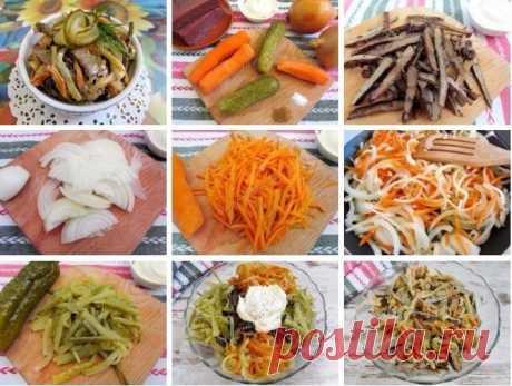Как приготовить салат из говяжьей печени - рецепт, ингредиенты и фотографии