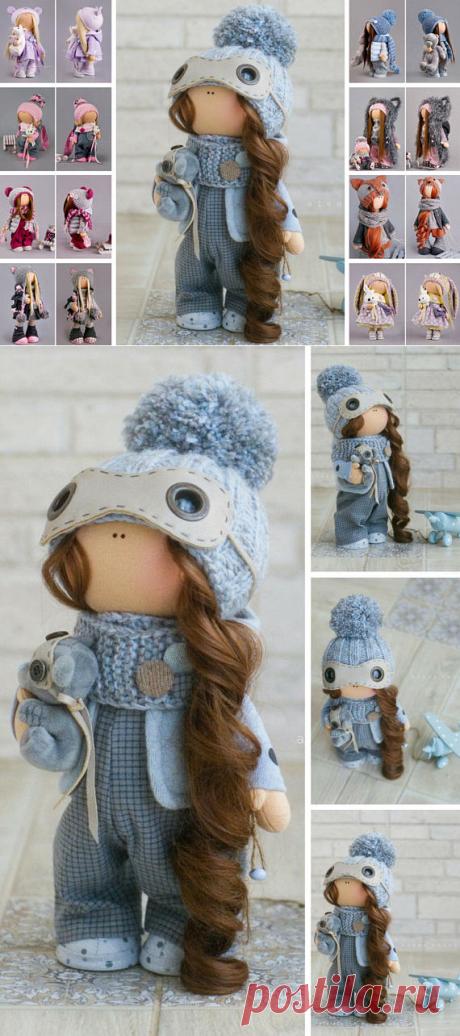 Winter Doll Christmas Doll New Year Doll Fabric Doll Handmade