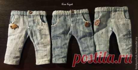 Шьем джинсы для куклы – мастер-класс для начинающих и профессионалов