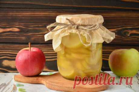 Яблочные дольки в сиропе на зиму: рецепт с фото пошагово