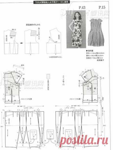 Интересная модель летнего платья. Необычная юбка
