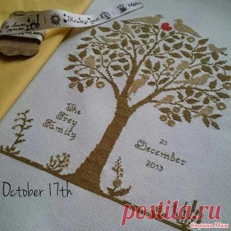 El árbol familiar - el Bordado y todo sobre ella - el País de las Mamás