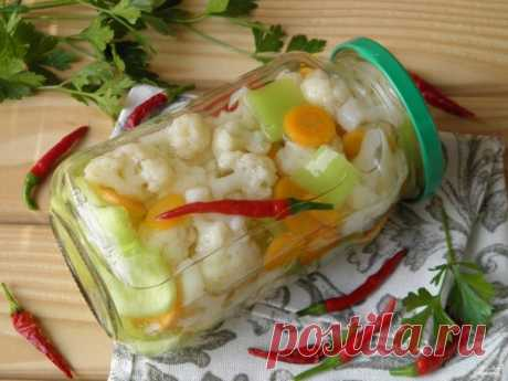 Закатка цветной капусты - пошаговый рецепт с фото