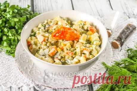 «Оливье» с крабом — рецепт с фото на Русском, пошагово. Как приготовить классический салат «Оливье» с крабом? #рецепт #рецепты #салат #оливье #новыйгод #салаты #салатики