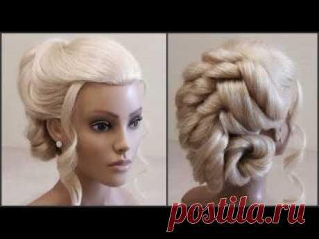 Подробное обучение по прическам.Красивая вечерняя прическа.Detailed training for the hairdresser.
