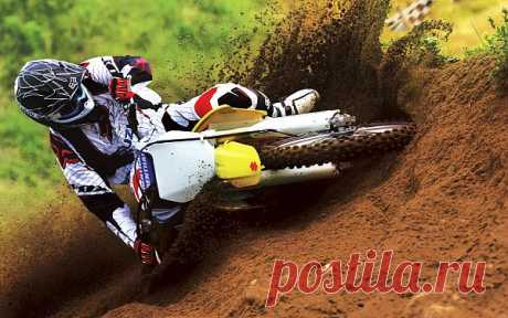 Suzuki motocross bike race.