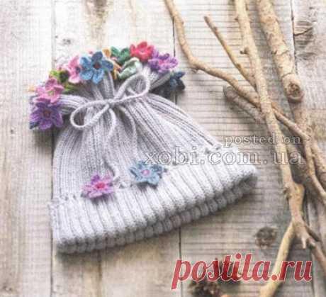 Вязаные детские шапки, шляпки, береты, косынки и шарфы вязаные крючком и спицами. » Страница 11