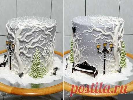 Торт ЗИМНИЙ- НОВОГОДНИЙ от SWEET BEAUTY СЛАДКАЯ КРАСОТА,  NEW YEAR CAKE DECORATION