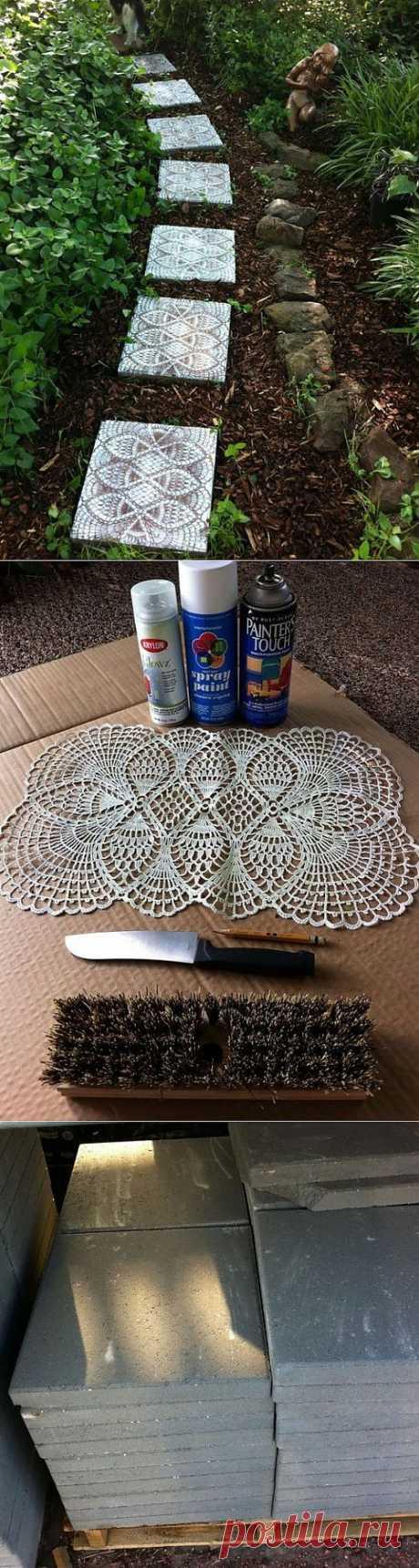 Плитка кружева для дачи — мастер класс