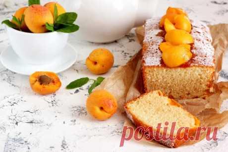 Шифоновый кекс с абрикосами