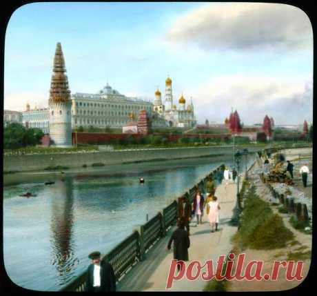 Москва 1931 года в цвете на невероятно атмосферном снимке
