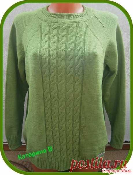 """. Пуловер """"Олива"""" - Вязание - Страна Мам"""