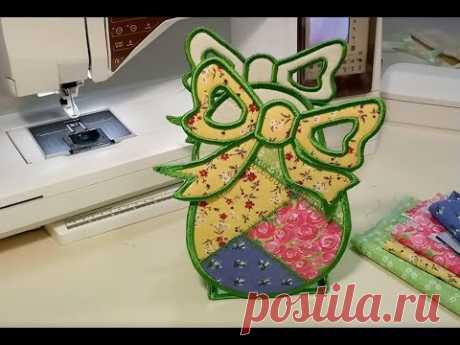 Корзинка из ткани своими руками . Текстильная корзинка . Плохой дизайн - YouTube   Пасхальная корзинка из ткани выполнена на вышивальной машинке, но подобную можно сделать просто на машинке, если увлекаетесь печворком или просто умеете шить. Не смотря на то , что дизайн плохой, идея мне очень понравилась и надеюсь понравится вам. )))