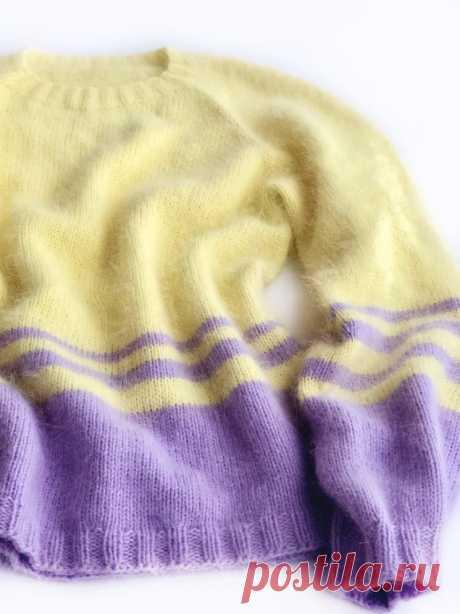 Базовый свитер без единого шва. Реглан сверху (Вязание спицами) – Журнал Вдохновение Рукодельницы