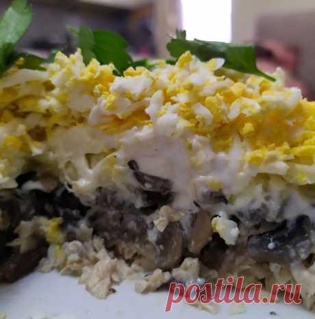 Лучший грибной салат на Новый год - его съедают в первую очередь   Вкусно и полезно   Яндекс Дзен