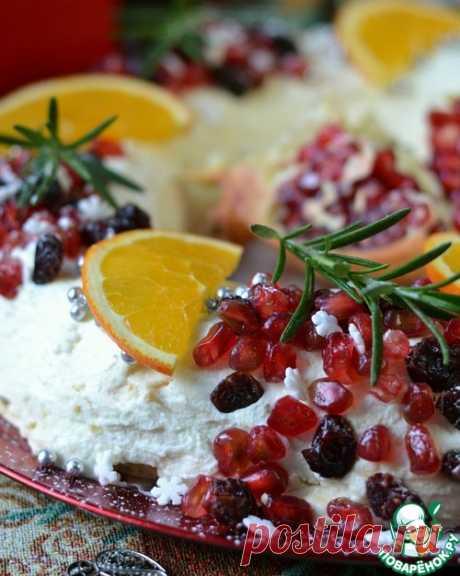 Новогодний торт с безе – кулинарный рецепт