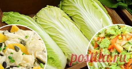 Es sabroso y para el intestino es útil. 5 ensaladas más sabrosas con la col de Pekín.