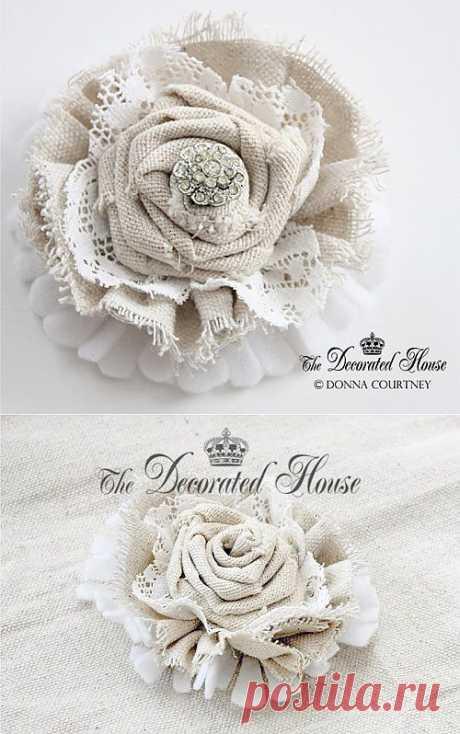 Винтажные цветы для украшения — мастер класс   My Milady