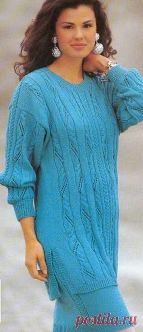 Красивые вертикальные узоры для пуловера или туники   Сохраните эти узоры в свою копилочку