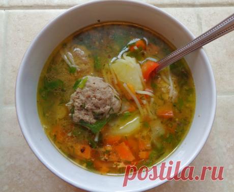 Суп с фрикадельками, пошаговый рецепт с фото