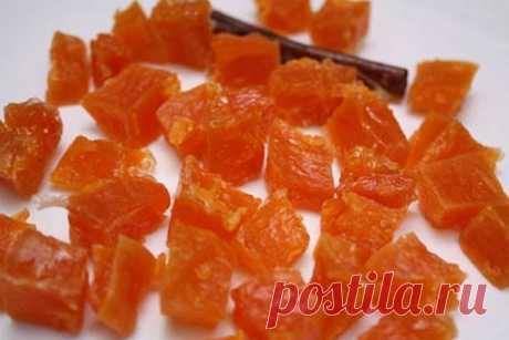 Желейные конфеты из тыквы.