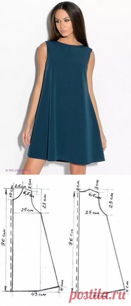 Шитье ✂ Выкройки.Платье силуэта