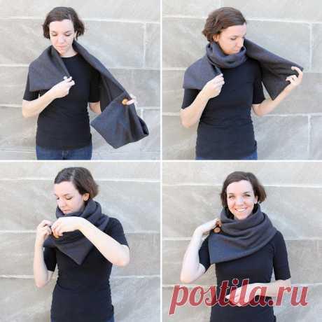 Как сшить объемный и элегантный шарф-коул: простая инструкция
