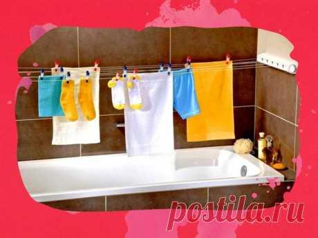 Обзор способов компактно развесить вещи сушиться в маленькой ванной