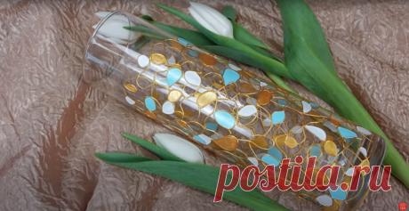 Как расписать стеклянную вазу? | Творческая студия TAIR | Яндекс Дзен
