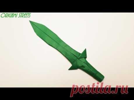 Оригами нож из бумаги