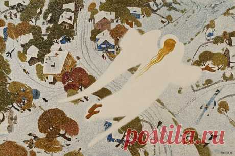 Иконопись и живопись у меня дружат друг с другом... Картинки из глубинки. Художник Александр Простев