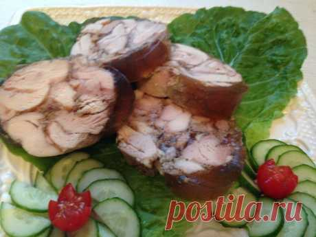 Roll from chicken meat quickly and without troubles - Simple recipes of Овкусе.ру