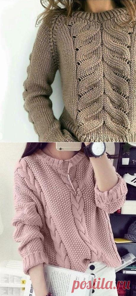 5 эффектных свитеров спицами (схемы и описание) | Рукоделие