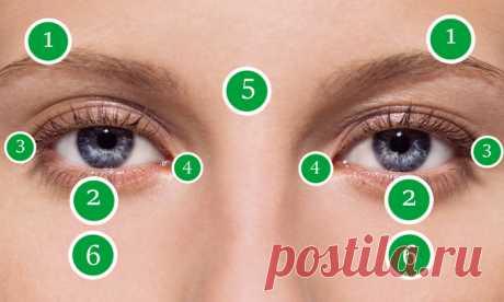 Массаж вокруг глаз для улучшения зрения