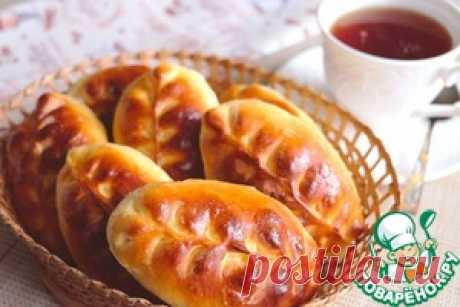 Пирожки печеные с рисом и грибами - кулинарный рецепт